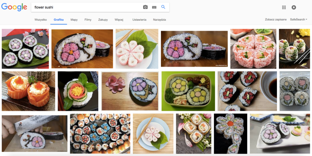 Flower Sushi (futomaki arranged in flower patterns)