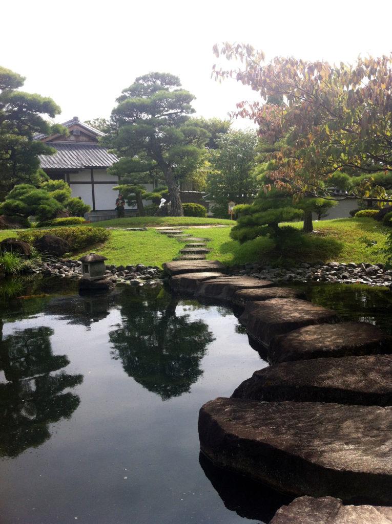 Koko-en garden in Himeji, Japan