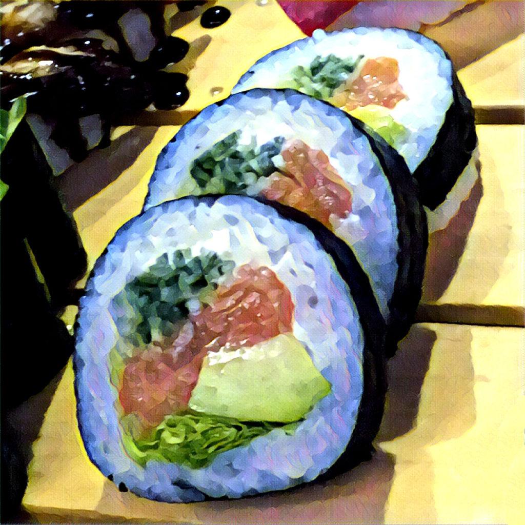 Sushi in a roll (Makizushi)