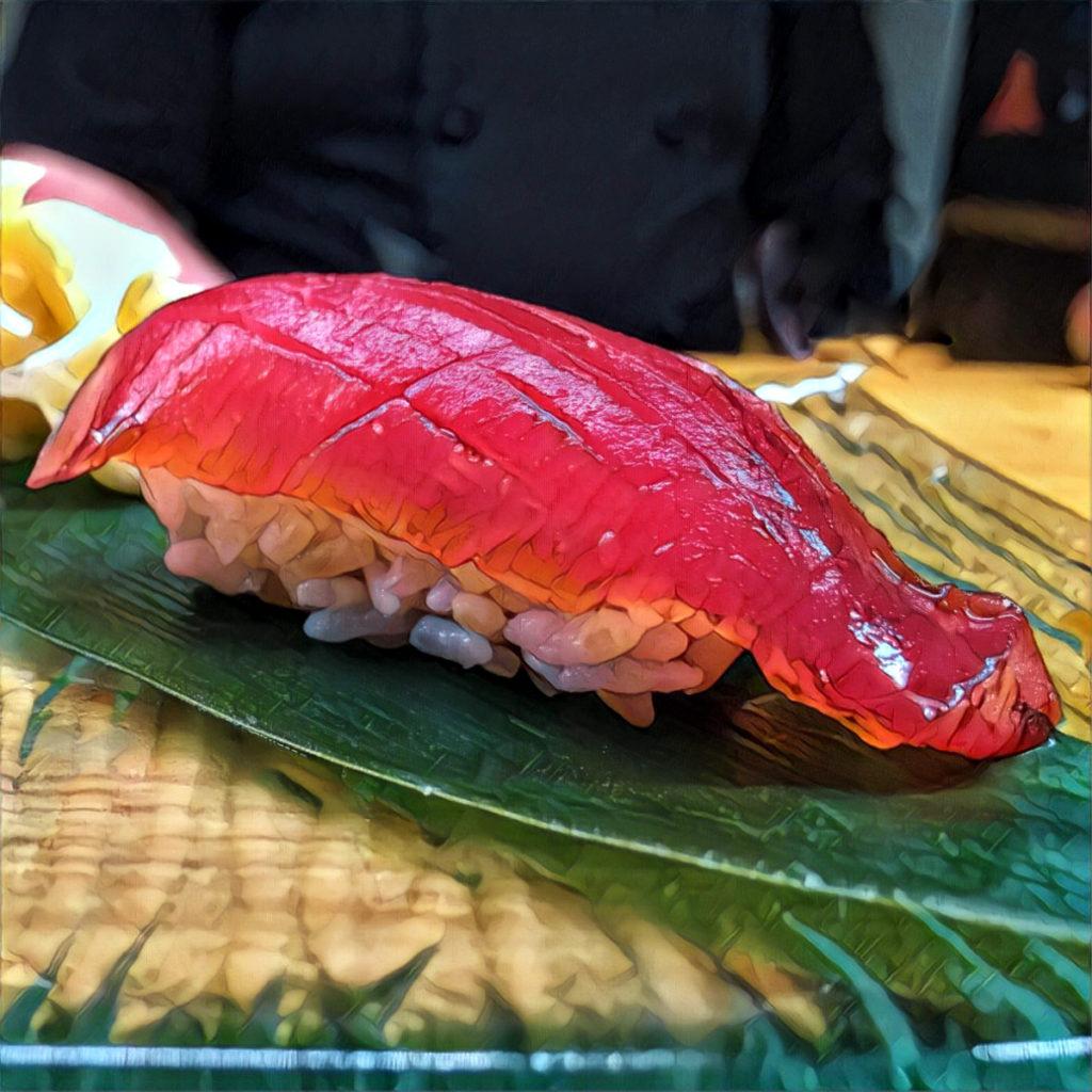 Nigiri (nigirizushi) with tuna