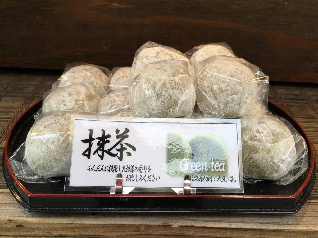 Japanese daifuku (matcha daifuku)