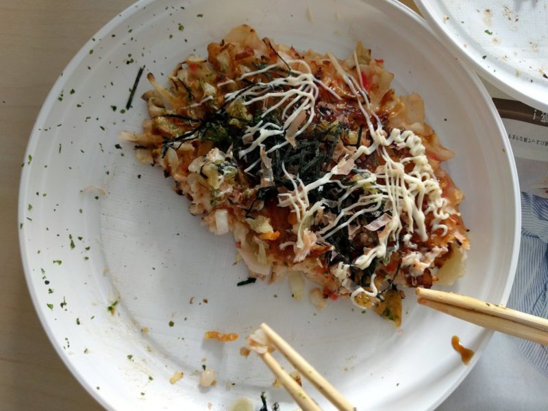 Recipe for okonomiyaki Kansai style - preperation