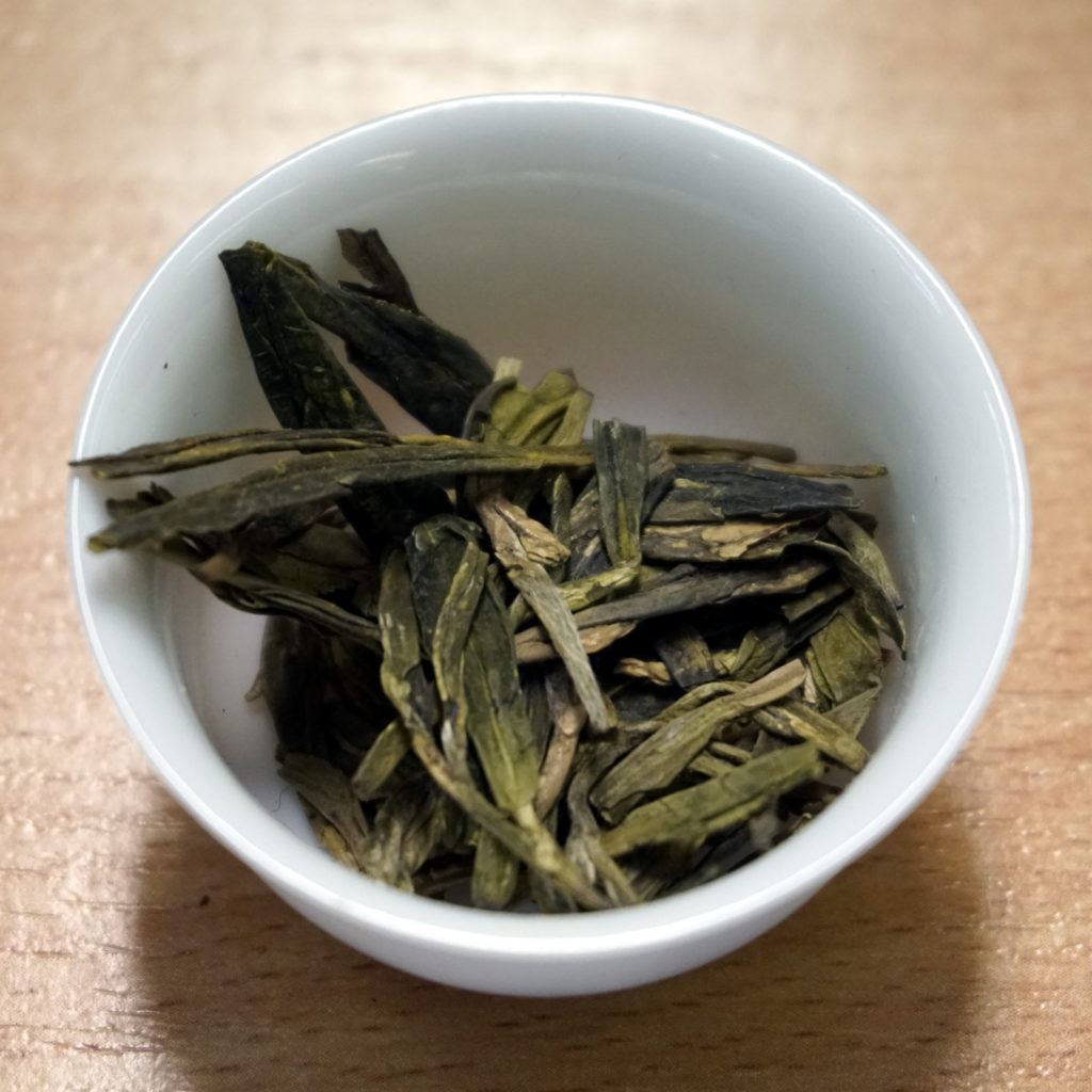Chinese green tea Longjing (Lóngjǐng)