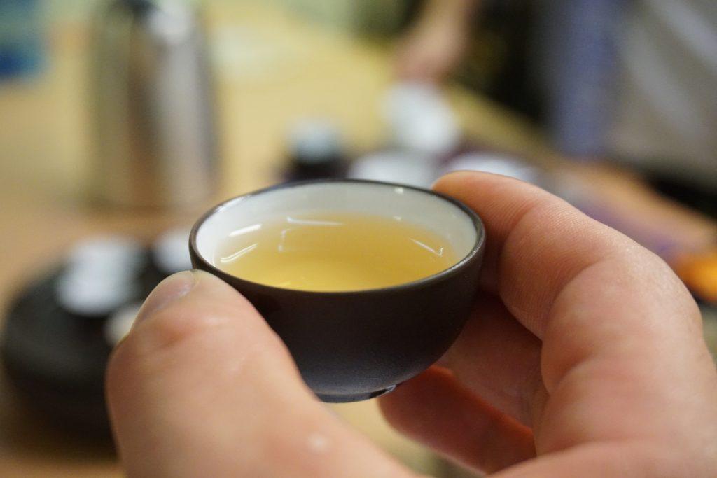 A cup of Xinyang Maojian Chinese tea